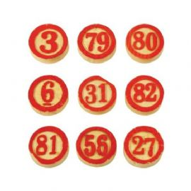 Tim Holtz® Idea-ology™ - Wooden Game Pieces / Bingo Numbers x 15 - TH92915